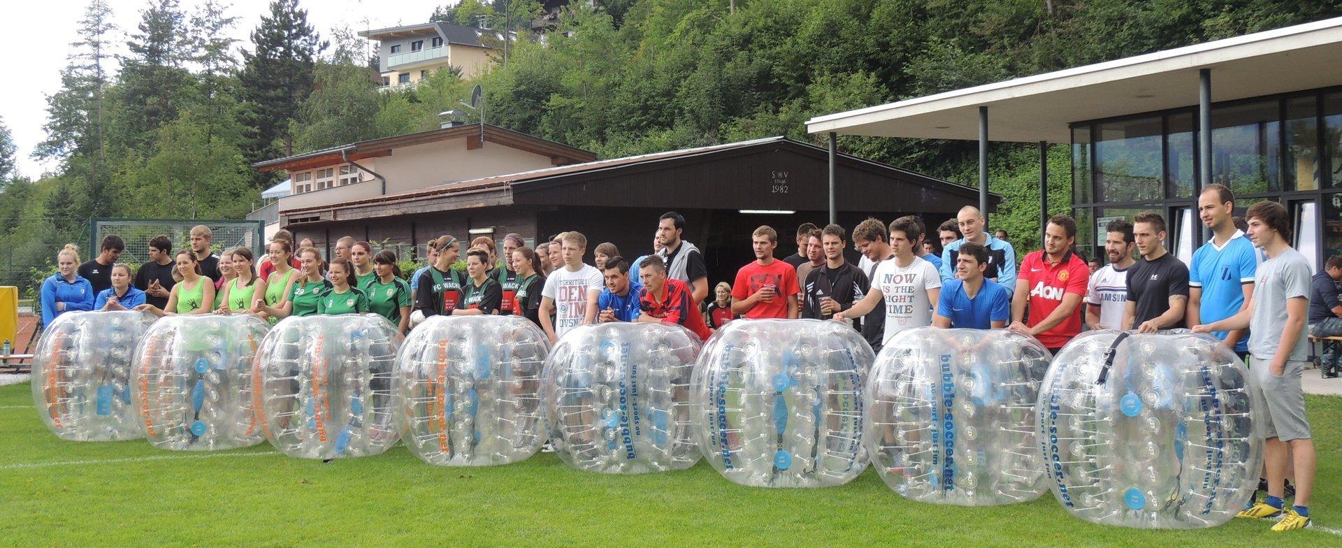 Starte dein Bubble Soccer Event